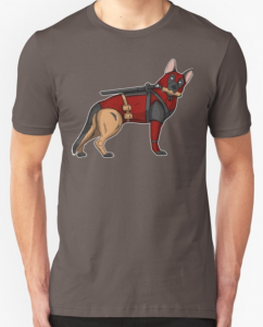 Dead Pool German Shepherd T Shirt