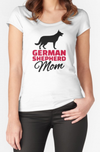 German Shepherd Mom T Shirt