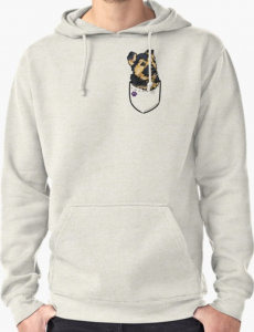 Pocket Puppiez German Shepherd Pullover Hoodie