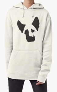 German Shepherd Face Shadow Pullover Hoodie