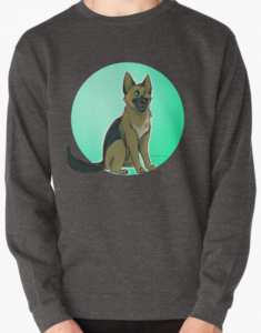 German Shepherd Green Circle Sweatshirt