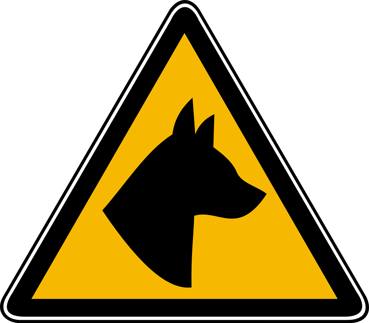 "BEWARE of DOG Warning Sign 8/""x12/""  Polystyrene SIGN Pet Security"
