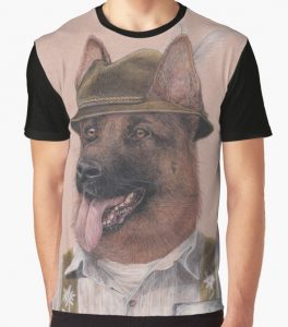 'Hat Graphic' German Shepherd Dog T Shirt Design