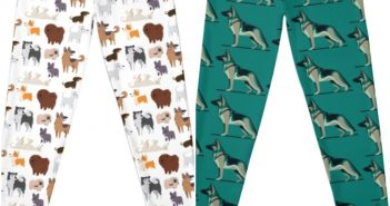 Cute & Colorful German Shepherd Leggings, Tights & Yoga Pants With A Range Of Prints