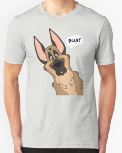 Play Graphic German Shepherd T Shirt