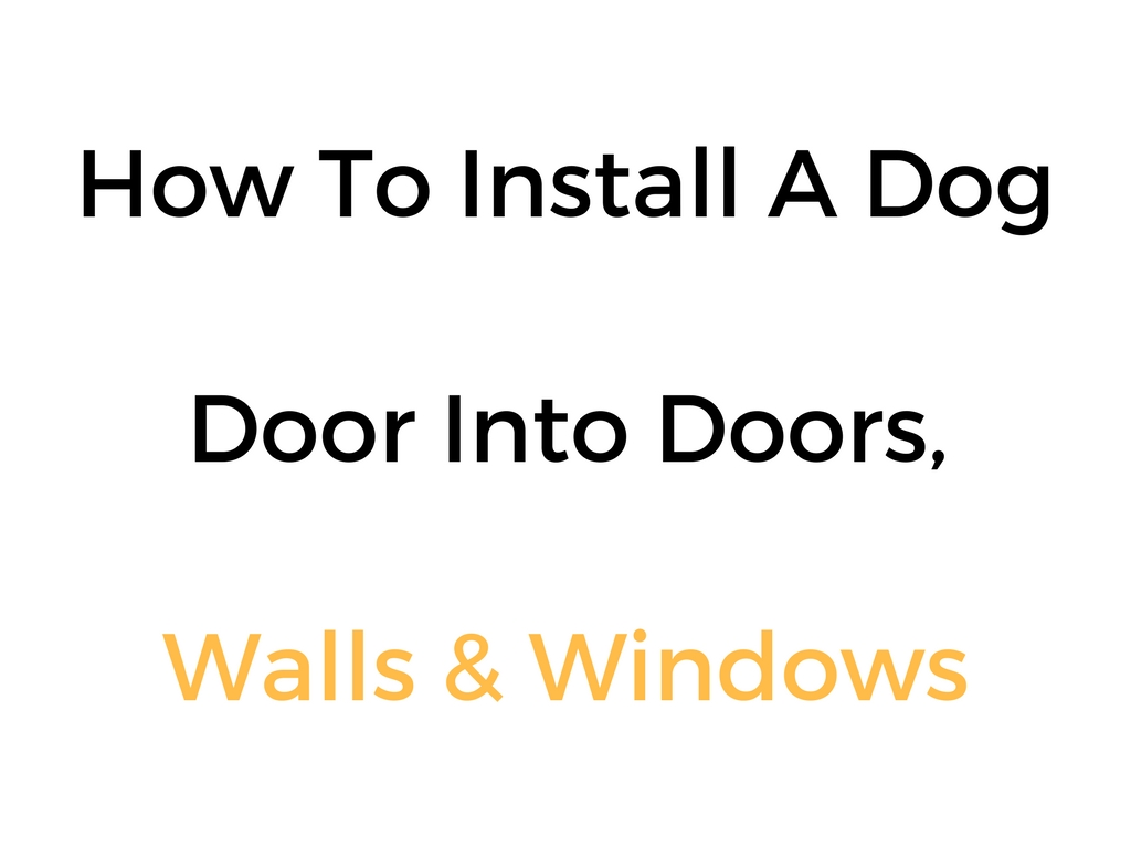 How To Install A Dog Door Into Doors Walls Windows Complete Guide