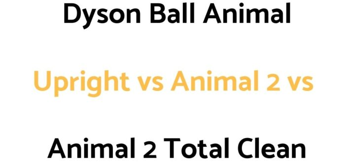 Dyson Ball Animal Upright vs Animal 2 vs Animal 2 Total Clean: Comparison