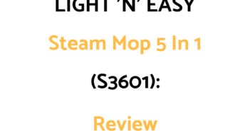 LIGHT 'N' EASY Steam Mop 5 In 1 (S3601): Review