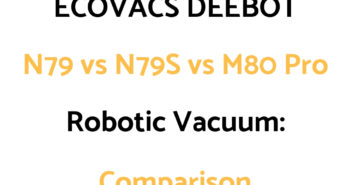 ECOVACS DEEBOT M80 Pro Robotic Vacuum (on Amazon)