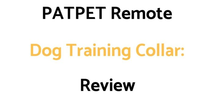PATPET Remote Dog Training Collar: Review & Buyer's Guide