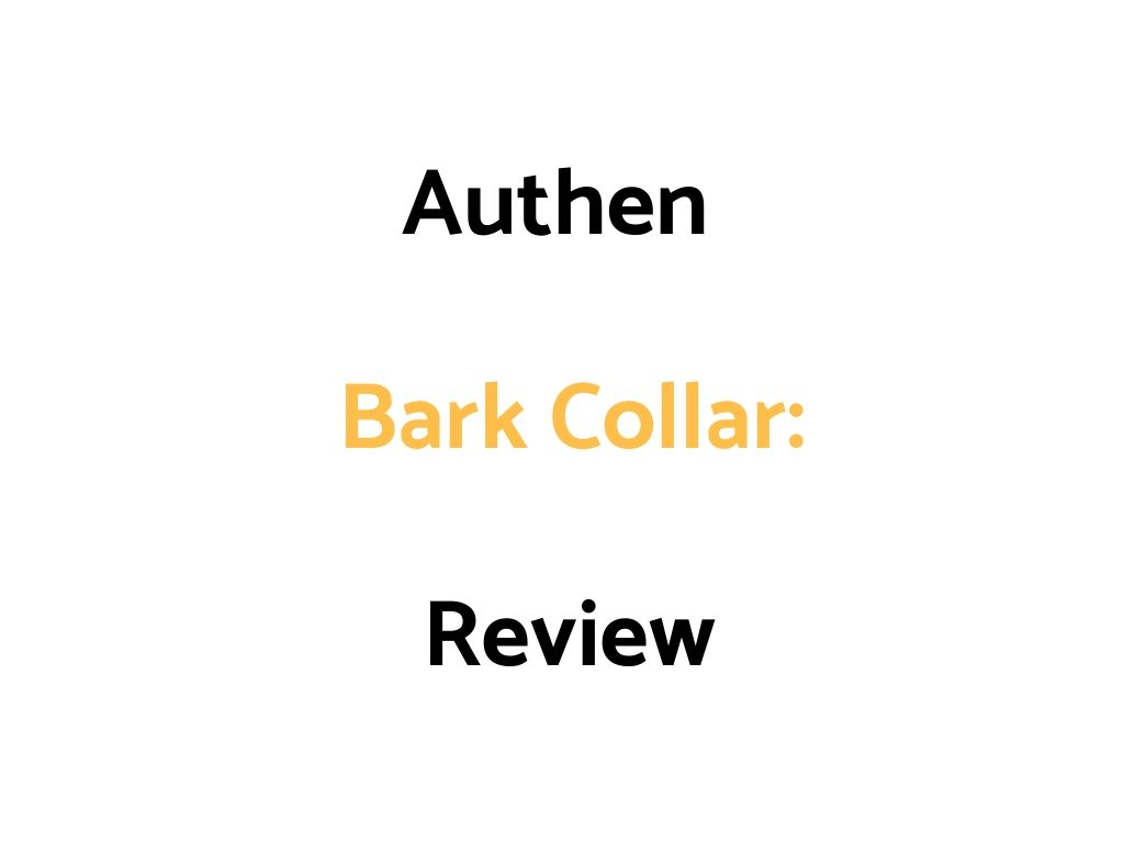 Authen Bark Collar: Review
