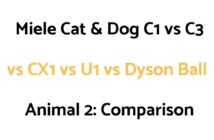 Miele Cat & Dog C1 vs C3 vs CX1 vs U1 vs Dyson Ball Animal 2: Comparison